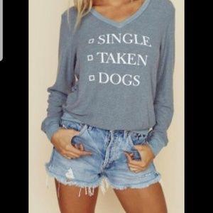 Wildfox Single Taken Dogs pullover sweater jumper